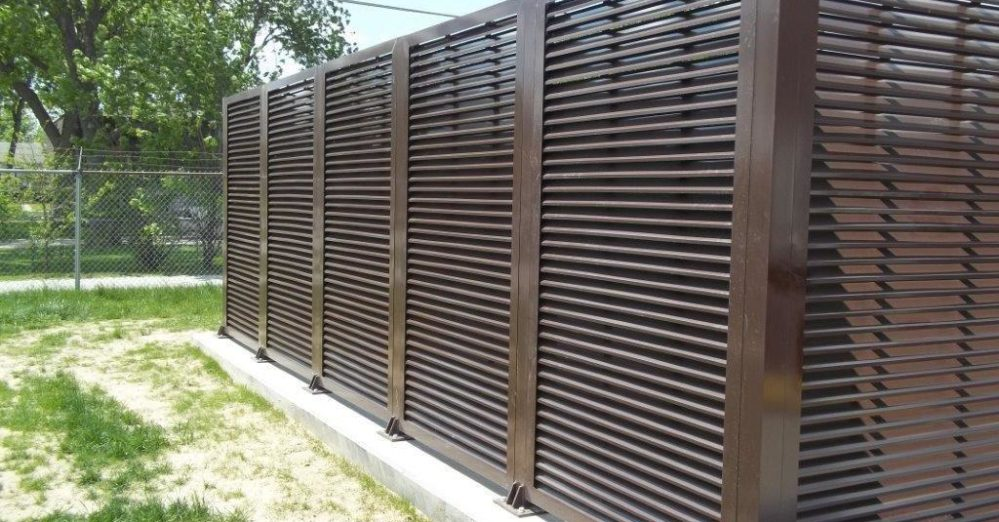 A great louvered equipment enclosure. PalmSHIELD is the ultimate louvered screen wall