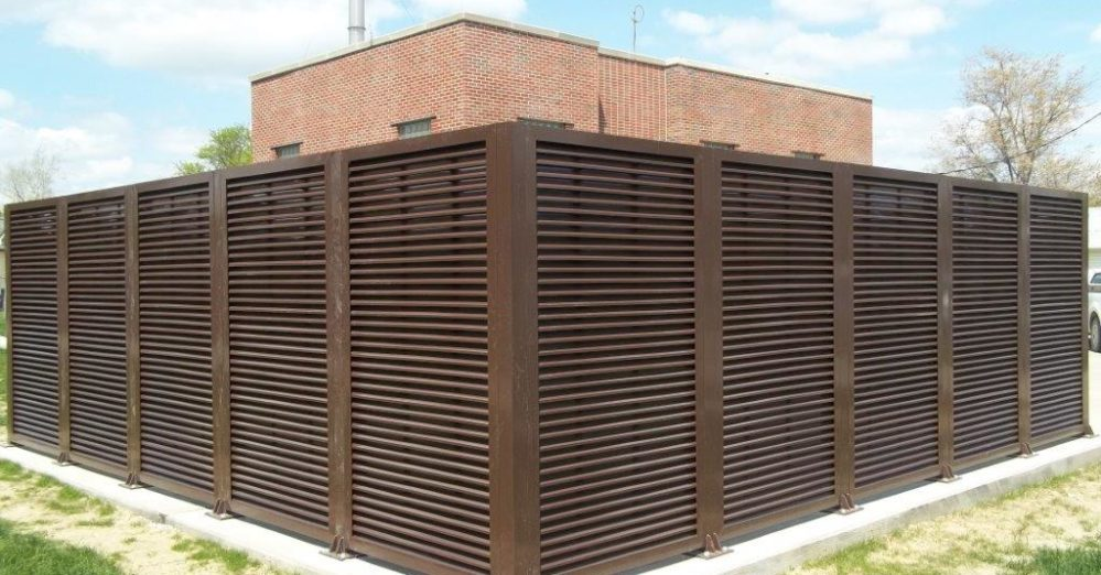 PalmSHIELD is the ultimate louvered screen wall. A great louvered equipment enclosure. PalmSHIELD Louvers. Equipment ensloures that are professional and seamless.