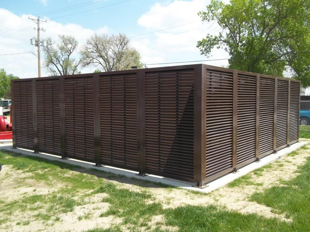 A great louvered equipment enclosure. PalmSHIELD Louvers. Mechanical and equipment enclosure