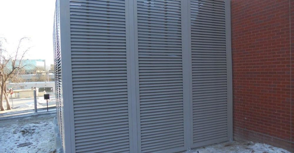 PalmSHIELD Louvers. Medical facilities architectural feature.