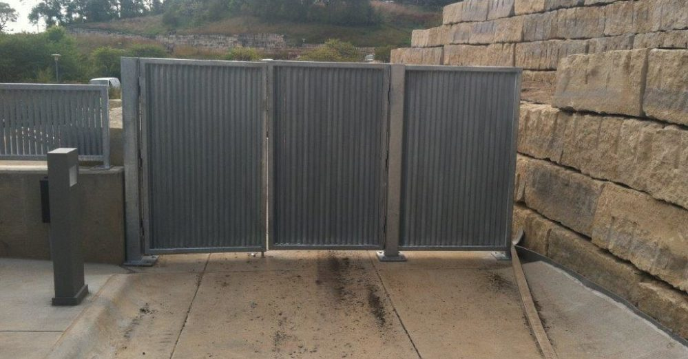 PalmSHIELD Louvers. Traffic control screening. A great louvered equipment enclosure.