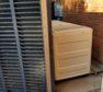 Customer jimmy-rigged louvered gate hinge