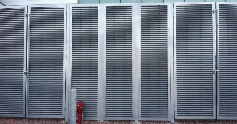 PalmSHIELD Louvers. Mechanical equipment enclosures