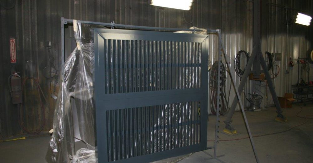 PalmSHIELD Louvers during fabrication process