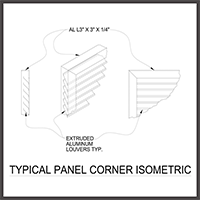 Panel Corner Isometric
