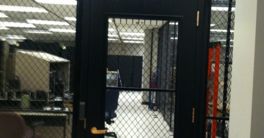 security wire mesh partitions