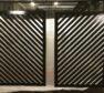 Diagonal architectual louvered panels