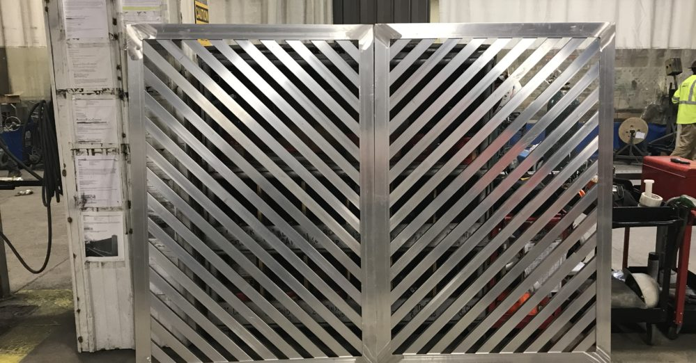 louvered mechanical screening.