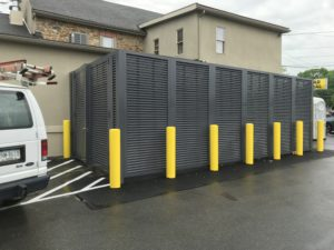 PalmSHIELD horizontal louver fence at Mission Dispensary
