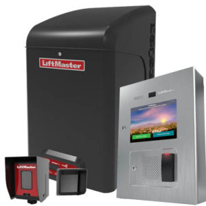 A couple of gate access control items from LiftMaster, including photo eyes, an operator and an access portal