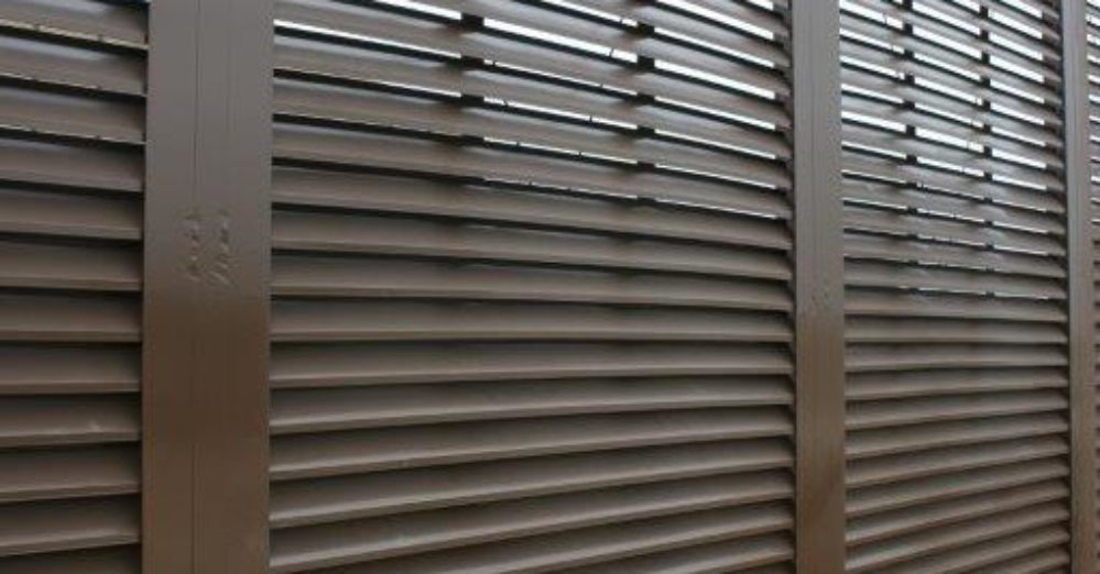 Chocolate brown sliding architectural gate