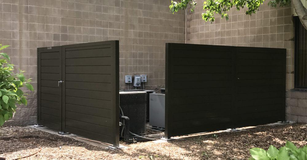 PalmSHIELD - Solid architectural screening enclosure walls