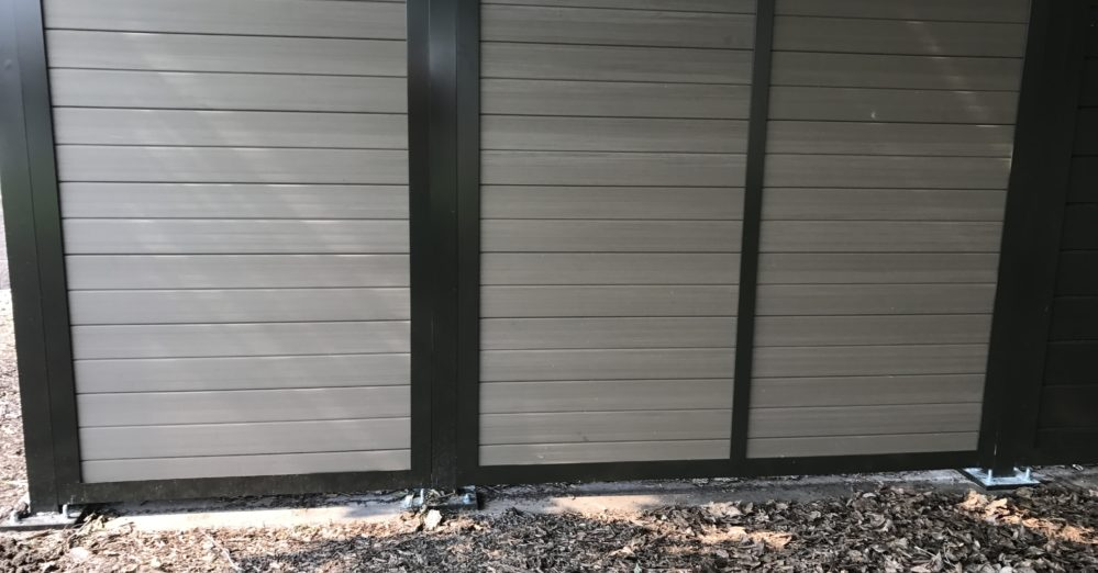 Vinyl architectural solid screen enclosure