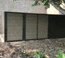 Solid vinyl architectural screening wall enclosure