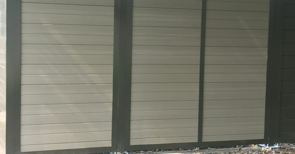 Solid PVC Architectural screen wall enclosure
