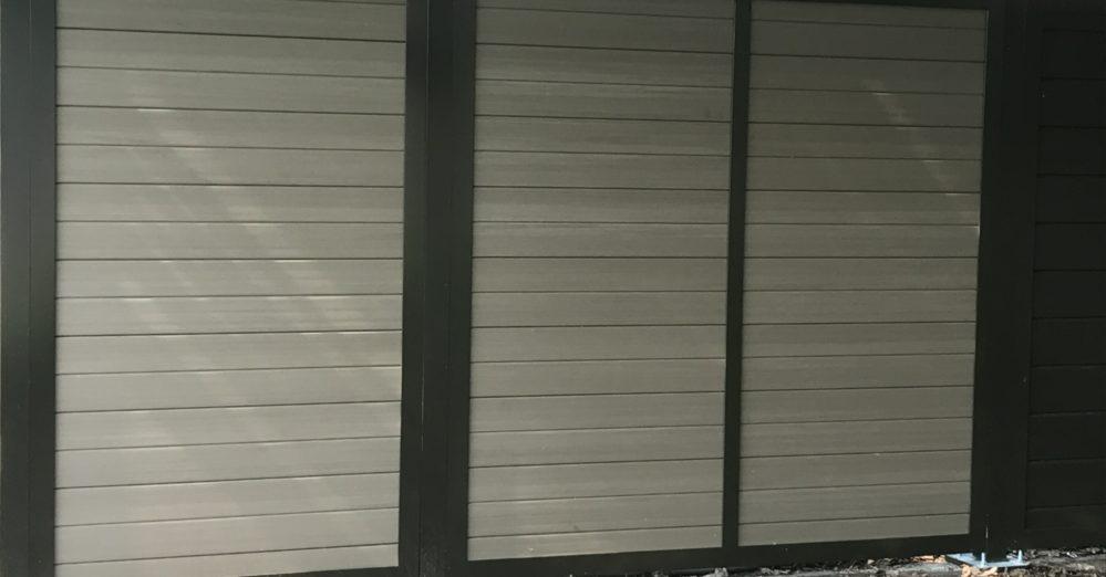Architectural solid PVC architectural screen enclosure