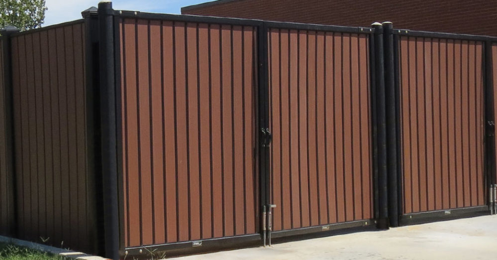 PalmSHIELD - architectural solid screening dumpster enclosure