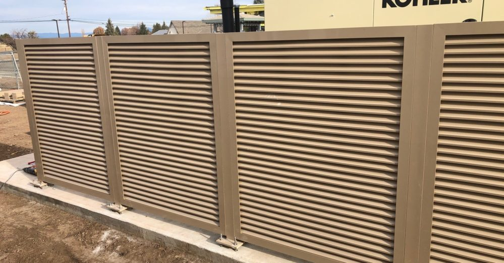 Powder Coated Aluminum Horizontal Louver Panels