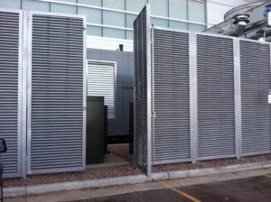 Louvered commercial swing gate