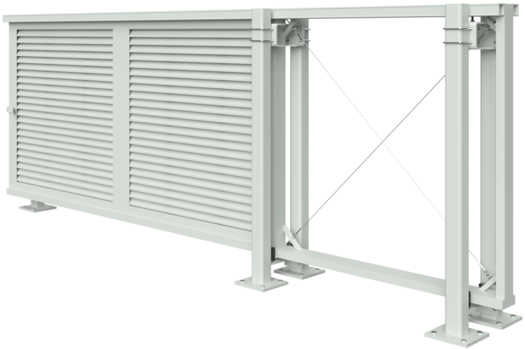 3D TIGER HORIZONTAL LOUVER DOUBLE TRACK