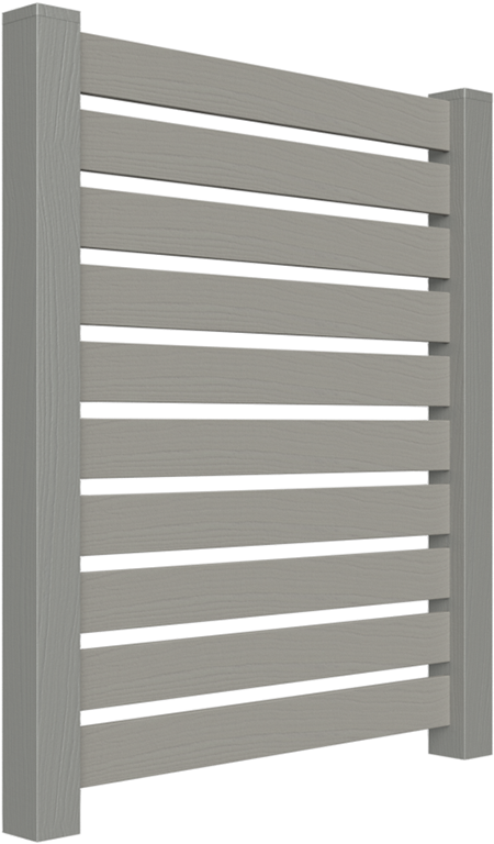 PalmSHIELD Louvers. Steel vertical louver screen system. architectural mechanical screening screen louvered semi private private solid staggered board on board shadow box alternating ametco barnett and bates industrial louvers rooftop louvers beta orsogrill omega chillers generators truck wells outside storage condensors rooftop equipment patios trash dumpsters transformers HVAC courtyards pool equipment fence aluminum galvanized steel degree of openness direct visibility standalone wall louvers