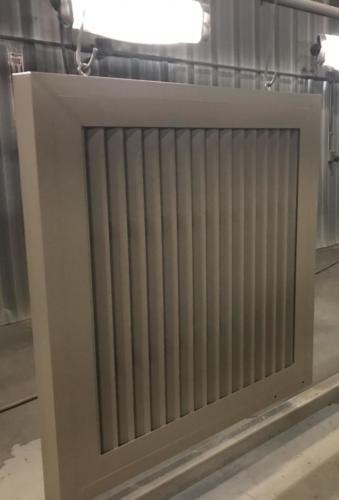 Mechanical equipment screening - PalmSHIELD vertical louvers