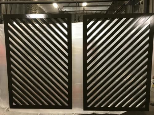 louvered screen wall
