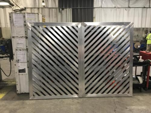 louvered mechanical equipment screening