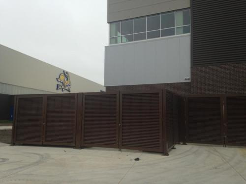 South Dakota State University Palmshield louvered architectural swing gate