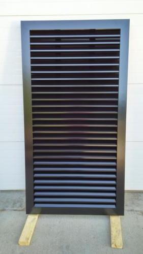 Horizontal louvered aluminum panel,City of Springfield